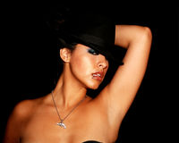 Gangster Woman royalty free stock photography