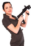 Gangster woman. Royalty Free Stock Photography