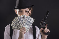 Free Gangster Woman Stock Image - 51593381
