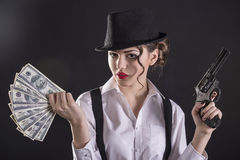 Gangster Woman Royalty Free Stock Images