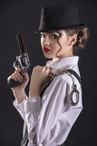 Gangster Woman stock images