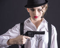 Gangster Woman Royalty Free Stock Photo