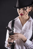 Gangster Woman Stock Photography