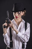 Gangster Woman stock photo