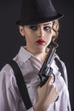 Gangster Woman Royalty Free Stock Photos