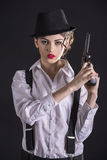 Gangster Woman Royalty Free Stock Image