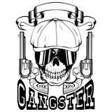 Gangster z koltem ilustracji