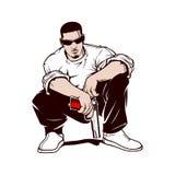 Gangster z pistoletem royalty ilustracja