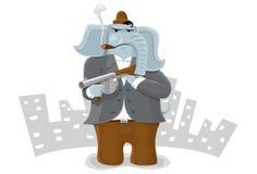 Gangsterelefant Stockfoto