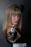 Gangsterfrau Lizenzfreie Stockfotografie