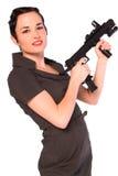 Gangsterfrau. Lizenzfreie Stockfotografie
