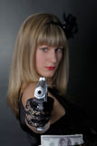 gangsterkvinna Royaltyfri Fotografi