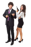 Gangsters and business Royalty Free Stock Photos