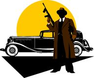 Gangsters car Stock Images