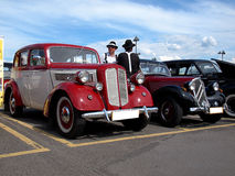 Gangsters and their cars. Stock Photography
