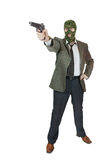 Gangsterschießen mit einer Pistole Lizenzfreie Stockfotos