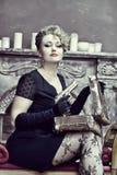 Gangsterska kobieta Obraz Royalty Free