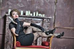 Gangsterska kobieta Fotografia Stock