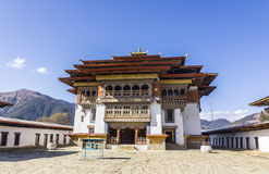 Gangtey monastery. Gangantey monastery is a well known monastery in the Phobjika valley of Bhutan Royalty Free Stock Images