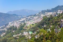 Gangtok aerial view Stock Photo