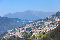 Gangtok aerial view Royalty Free Stock Images