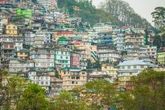 Gangtok de Hoofdstad van Sikkim, India stock afbeeldingen
