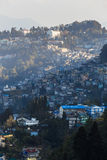 Gangtok mountain villages with sunlight in the morning that view from Tiger Hill at Darjeeling, India Royalty Free Stock Image
