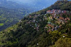 Gangtok Stadt lizenzfreie stockfotos
