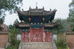 Gangu, CHINA - 10 de octubre de 2014: Jiang Wei Temple en Gangu, Tianshui, fotos de archivo libres de regalías