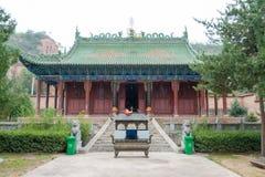 Gangu, CHINA - OCT 10 2014: Jiang Wei Temple in Gangu, Tianshui, Royalty Free Stock Photo