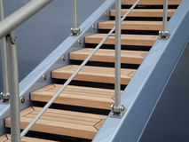 Gangway. Maritime Detail showing a part of a modern style gangway stock photography