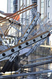 Gangway choreography. At the old harbor of Edinburgh royalty free stock photography
