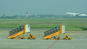 Gangway of the plane at Tan Son Nhat Airport Royalty Free Stock Images
