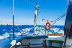 Gangway of the ship Sea Royalty Free Stock Photo