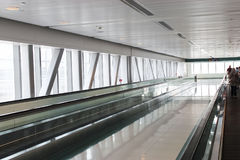 Gangway with travolators from DAMAC Metro Station formerly Duba Royalty Free Stock Images