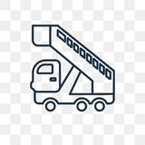 Gangway Truck vector icon isolated on transparent background, li royalty free illustration