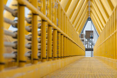 Gangway or walkway linked between production platform and living quarter. Royalty Free Stock Photography