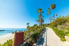 Gangweg in Laguna Beach stock fotografie