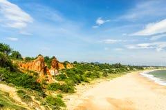 Ganh儿子海滩在越南 免版税库存图片