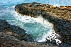 Ganh Da Dia, Wietnam, skała, morze, podróż, Vietnam obrazy stock