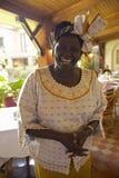 Ganhador do prêmio da paz de Nobel, Wangari Maathai na reunião do hotel de Norfolk em Nairobi, Kenya, África imagens de stock royalty free