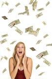 Ganhando a lotaria Imagens de Stock Royalty Free