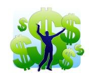 Ganhando a lotaria ou a herança Fotografia de Stock Royalty Free