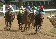 Ganhando sua primeira raça Fotografia de Stock Royalty Free