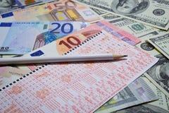 Ganhe a loteria Fotografia de Stock