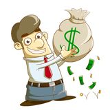 Ganhe lotes do dinheiro ilustração royalty free