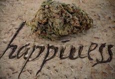 Ganja = счастье Стоковая Фотография