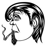 Ganja man. Smoke man in oldest style, in the Stock Photography