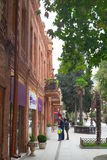 Ganja-Stadt azerbaijan Javadkhan-Straße Lizenzfreies Stockbild