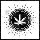 Ganjah emblem vector seal - monochrome sign Royalty Free Stock Images